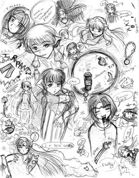 mass doodlings by br3nna