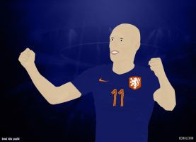 My Second Vector, Robben by KemalEkimGraphic