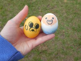 Finn and Jake Eggs by Suemoons