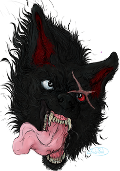 finished- Angry snarly by Blud-Bud