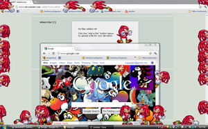 Knuckles shimeji download by shadowyoshigamernerd