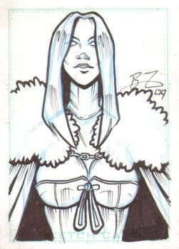 White Queen Sketch Card by Bryce-Lee
