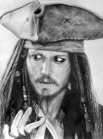 Captain Jack Sparrow by LazzzyV