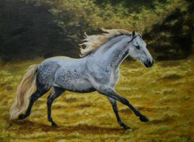 horse painting by greenleaf-imagery