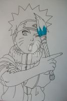 Time To Draw! Naruto Uzumaki young by SakakiTheMastermind