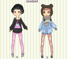 Adoptable batch No. 2 by Louloukeadopts