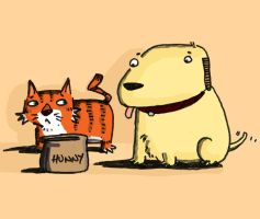 Naughty dogs eat honey by ThereisnoD