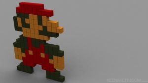 Super pixel Mario by keenakorn