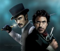 Game of Shadows: Sherlock Holmes and John Watson by ThreshTheSky