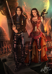 Character design: Sierra and Jonah by 4steex