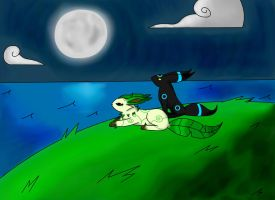 Watching a Blue Moon Rise by OwlCreme