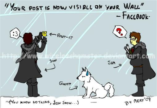 Jon Snow and Facebook by WirelessHamster