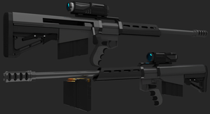 Sniper rifle concept (WIP) by Jo-weee
