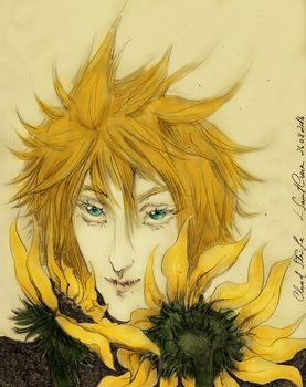 Cloud with sunflowers by LaurA-RacheL