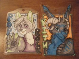 Poprock Grey Badges by pagedrillgirl