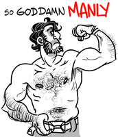 THE EPITOME OF MANLINESS by 4040404