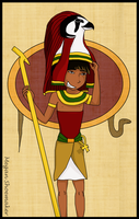 Egyptian God, Ra by mmshoe
