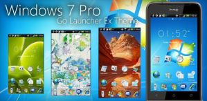 Windows 7 Pro Go Launcher Theme by moschdev