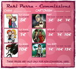 New Commission prices! by RakiParra