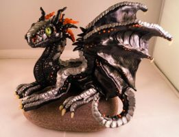 Black Dragon Glazed by LittleDragonDesigns