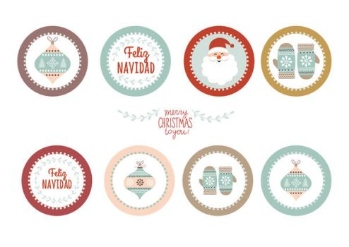 Christmas toppers or labels by minerva-aurora