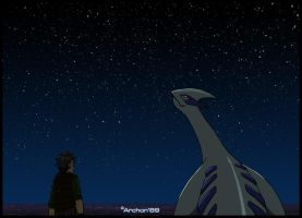 Lugia under the stars by Archon89