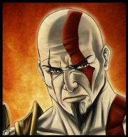 Kratos Fan Art by MauroIllustrator