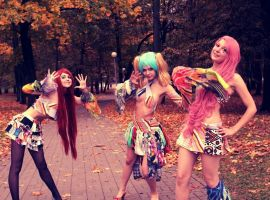 Crazy Funny Clowns by AppolinaryI
