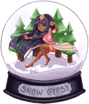 [C] Queen-rooniisuu Snowglobe Chibi by SushimiTsukimi