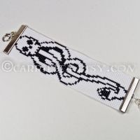 Dark Mark Beaded Wrist Cuff by CarrieBea