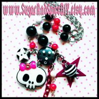 Skull Stars Cluster Necklace by SugarAndSpiceDIY