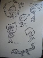 Brush Pen Warmups by happydoodle