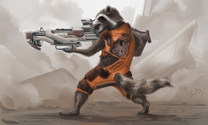 Guardians of the Galaxy Rocket Raccoon by SP-hera
