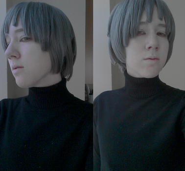 Quinton Makeup and Wig Test by toppledcards