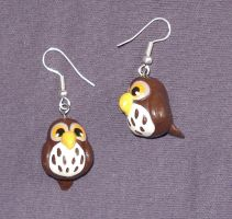 Owl-Earrings #1 by Sturmdaemonin