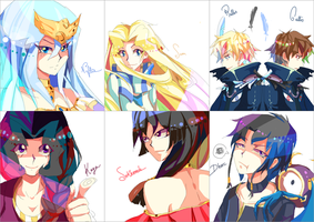 Yugioh: Pop Ocs by Yamineftis