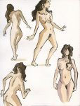 Ink and Watercolor Nudes 1 by zacharyknoles