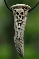 decorativ skull - deer antler by manuroartis