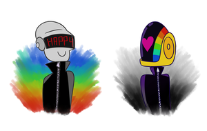 Daft punkies by lila79