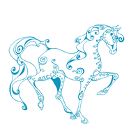 Teal Line Equine by Ranasp