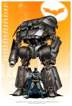 Batman and Batmobile mecha by Mecha-Zone