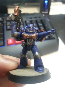 Space Marine 1,1: Front view by LagiaDOS