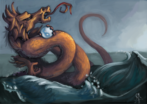 Water Dragon by Vyoma