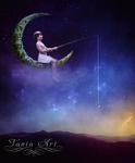 Son of the Moon and Earth by TaniaART
