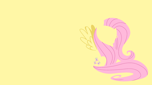 Fluttershy Minimal Wallpaper by Kitana-Coldfire