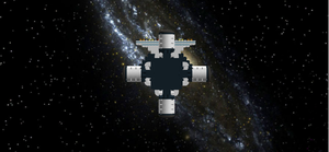 Colony Ship Front View by mafia279