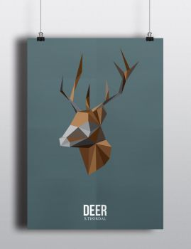 Poster Deer by SimonTwoPointO