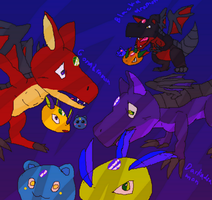 My 3 Original Dragon Digimon by Cenadramon