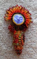 Fire Sprite Beaded Goddess by jardan