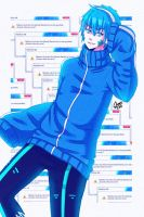 Mekaku city Actors Ene [Gender Bender] by Irenechii